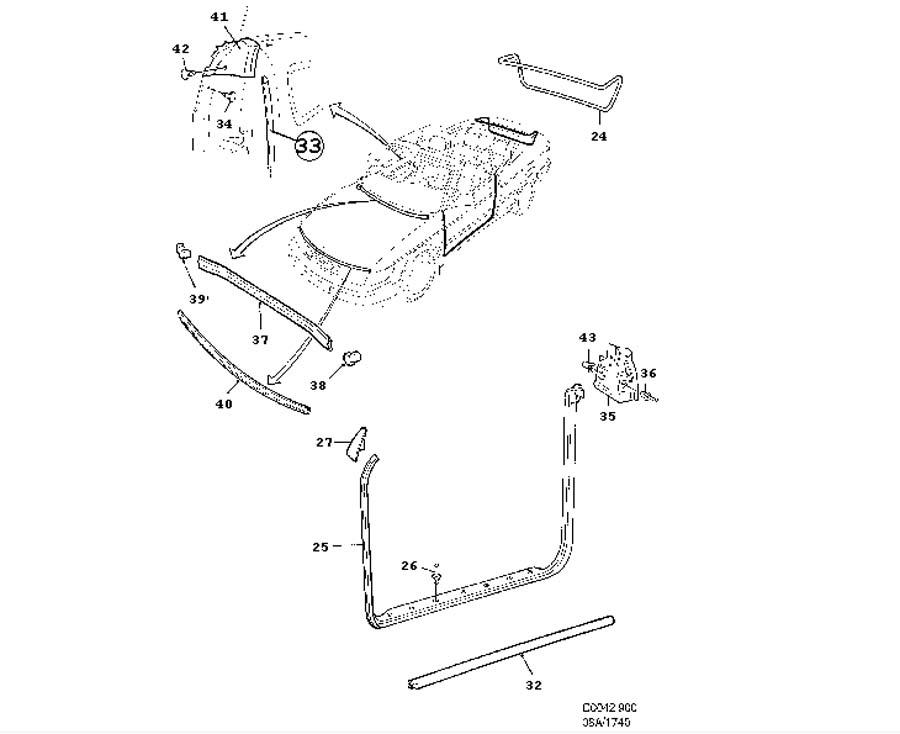 saab 93 parts diagram wwwjimellissaabpartscom showassembly