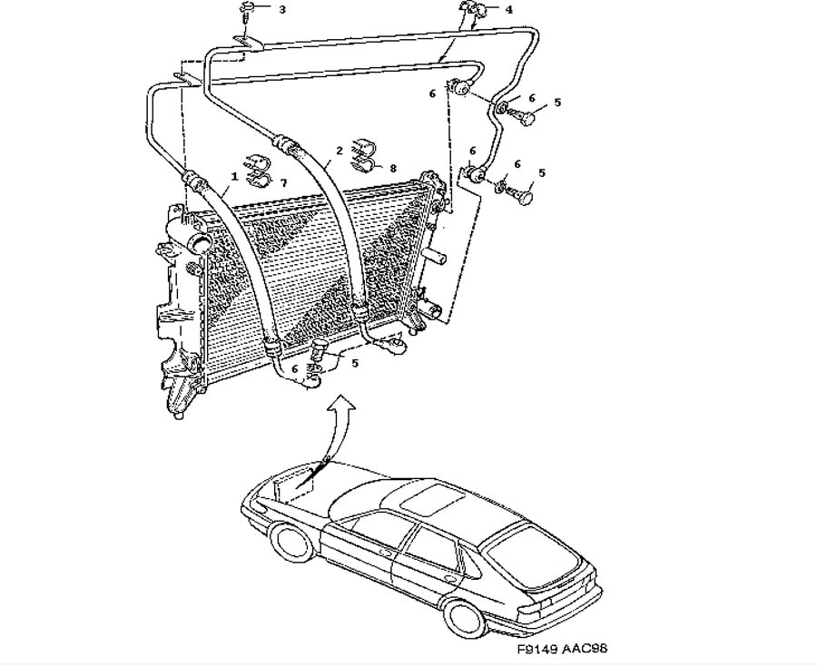 Cooling system, Air oil cooler, Automatic transmission