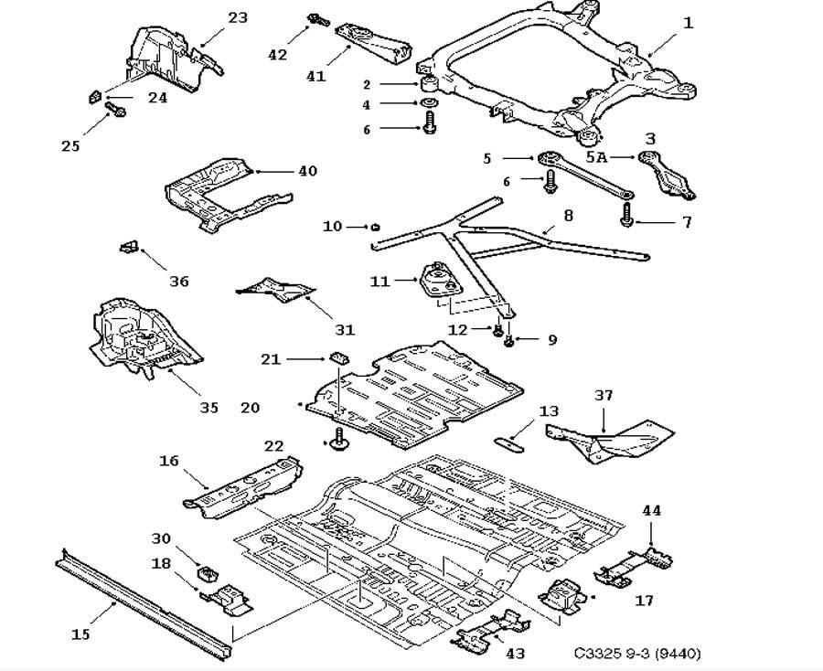 Car body, Front and centre floor 4 door 5 door Convertible