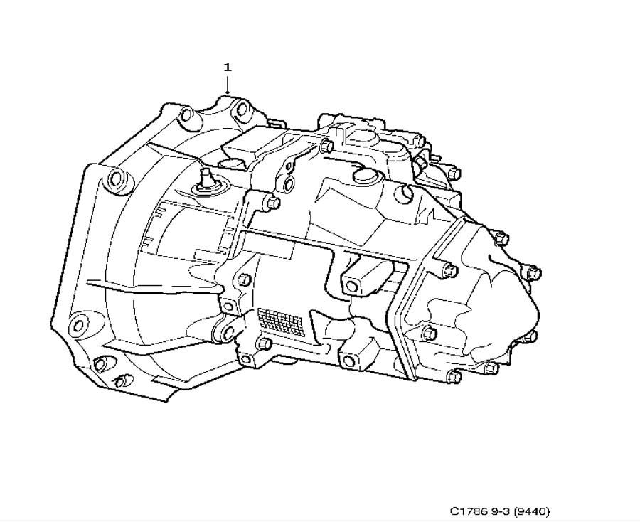 Gear box assy, Manuel, 5-speed 4 Cylinder Manual