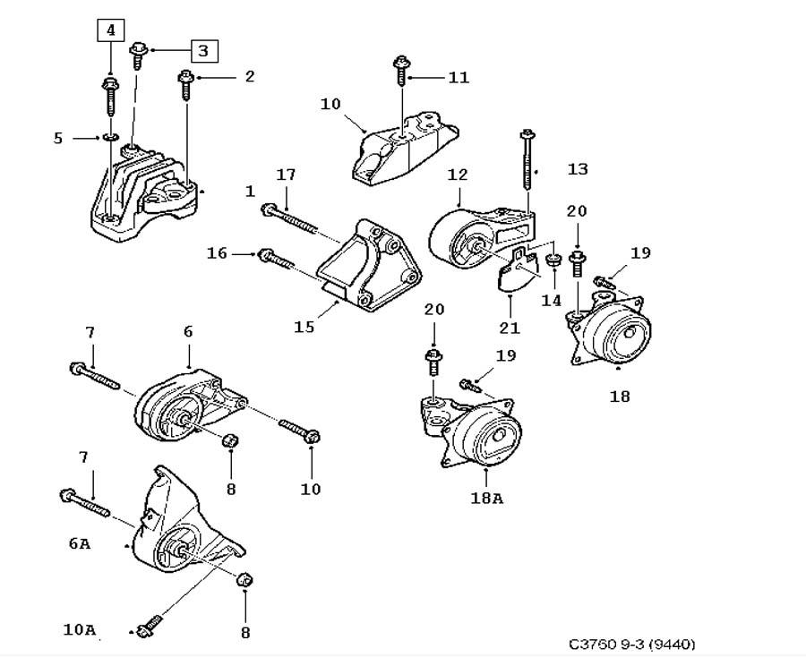 Short block, Engine suspension