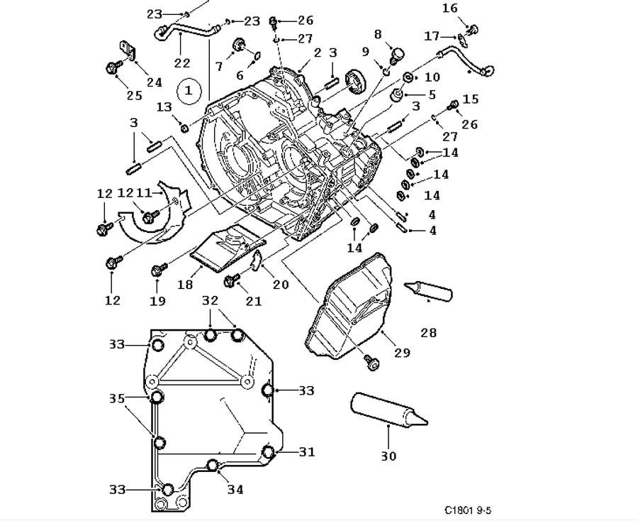 Gear box, automatic, Gear box case, cover Automatic