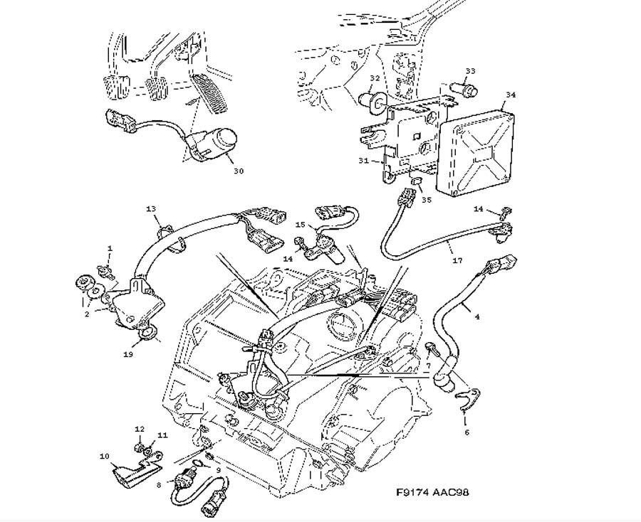 Automatic Transmission Parts Diagram 99 Saab 9 5. Saab
