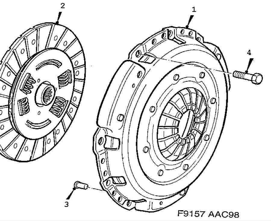 Clutch, Clutch, clutch disc Manual
