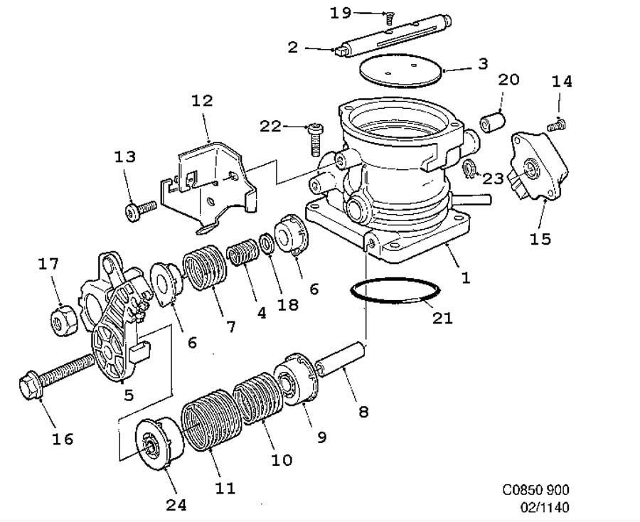 saab throttle position sensor 1993 900