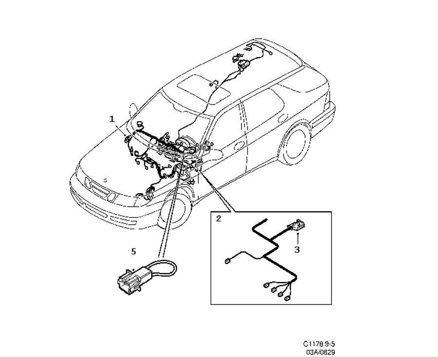 Wiring and fuses, Instrument panel 5 door