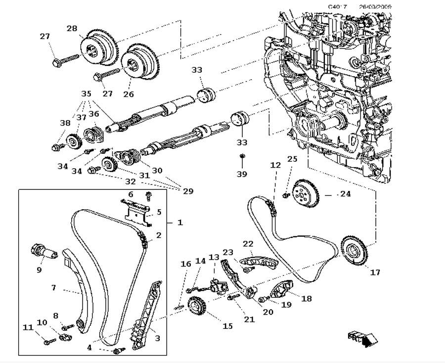 Short block, Transmission A20NHT,4 Cylinder Turbo, A20NFT