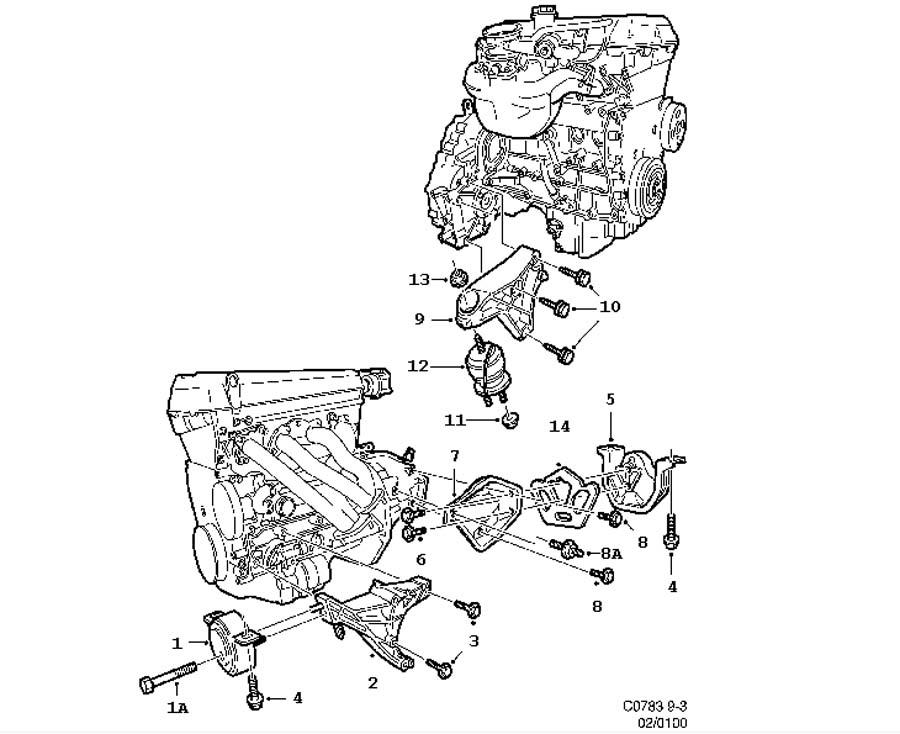 99 saab 9 3 engine diagram