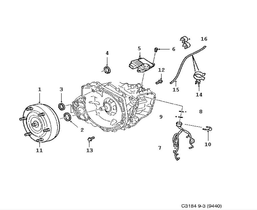 Gear box, automatic, Converter shell, Torque converter 6