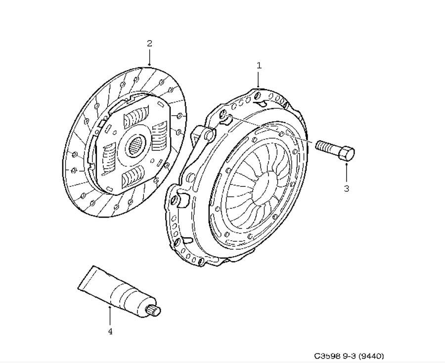 Clutch, Clutch, clutch disc 4 Cylinder Manual