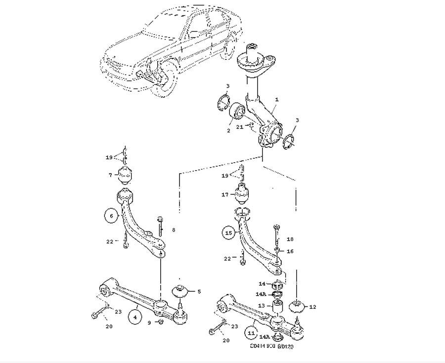 Front wheel suspension