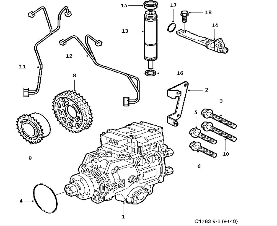 Fuel system, Injection pump