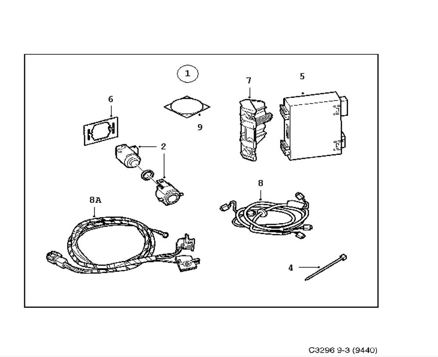 Accessories body, Saab Parking Assistance (SPA)