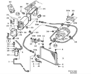 Heating and ventilation, AC evaporator, Sanden