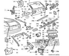 Saab 9 7x Tail Light, Saab, Free Engine Image For User