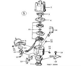 Ignition system, Ignition distributor ,4 Cylinder Turbo,