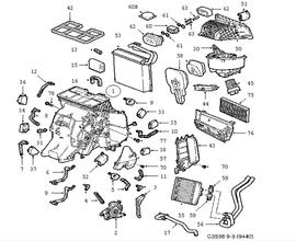 Heating and Ventilation Parts for Saab 9-3 Convertible