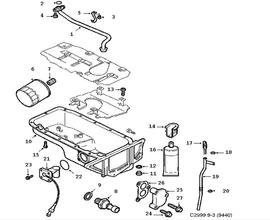 Lubrication system, Oil pan, oil filter Z18XE,4 Cylinder,