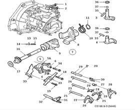 Gear box, manual, Transmission housing, 5-speed Manual