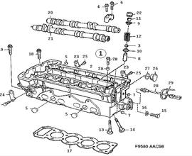 900 Parts for Engine Saab 1994