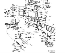 9000 Parts for Heating and Ventilation Saab 1992