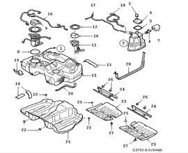 Fuel system, Fuel tank 4 Cylinder Z18XE,4 Cylinder,