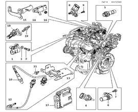 Inlet and exhaust system, Sensor, Sensor A28NET, 6