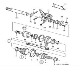 9-3 Convertible Parts for Transmission Saab 2007