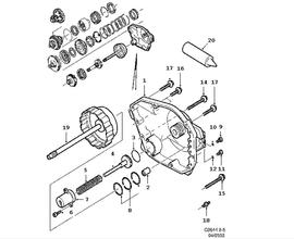 9-5 SportCombi Parts for Transmission Saab 2001