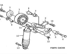 9000 Parts for Suspension Saab 1990