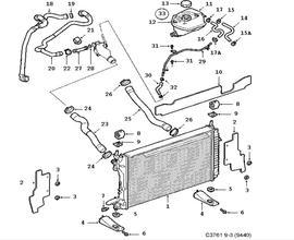 Cooling system, Radiator, Expansion tank 6 Cylinder