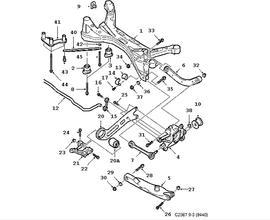 Rear axle 4 door Convertible 5 door