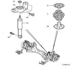 Rear suspension 4 door Convertible 5 door