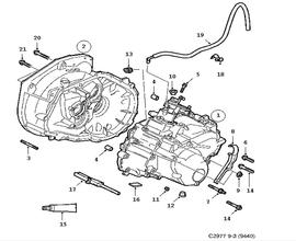 Gear box, manual, Transmission housing, 6-speed Manual