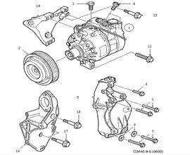 Saab 9-5 Sedan Parts