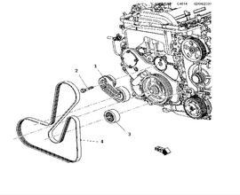 Short block, Belt tensioner A20NHT,4 Cylinder Turbo