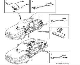 Saab 900 Wiring Harness. Saab. Wiring Diagram