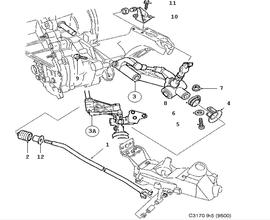 Transmission Parts for Saab 9-5
