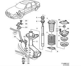 9-3 Classic Parts for Suspension Saab 2001