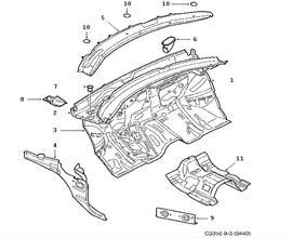 Car body, Cowl plate 4 door 5 door Convertible