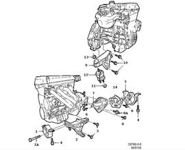 9-3 Classic Parts for Engine Saab 2000
