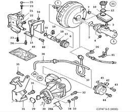 Brakes Parts for Saab 9-5