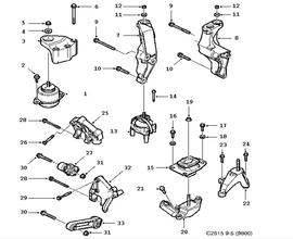Engine Parts for Saab 9-5