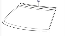Saab 9-3 Windshield Trim ('03-'07)[12789696]