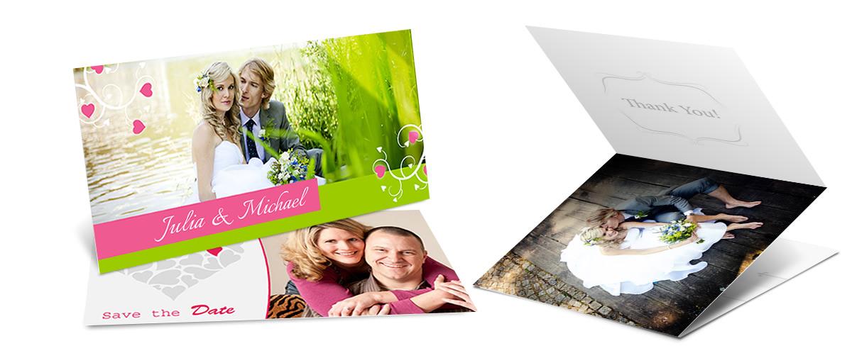 Individuelle Danksagungskarten fr Ihre Hochzeitsgste