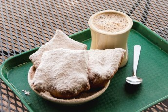 Chicory coffee and beignets, Cafe Du Monde