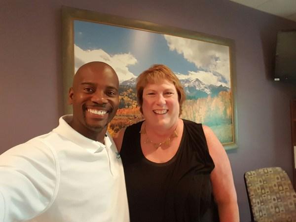 Mr. Travis Mack and Ms. Lisa Rice, President/CEO of CareerSource Brevard.