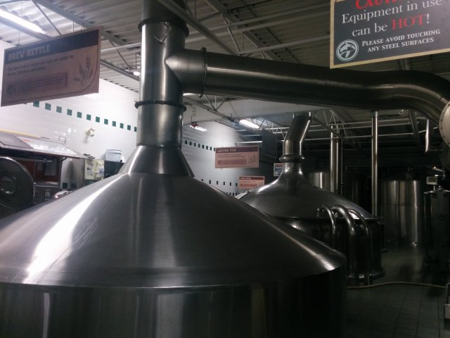 Brewery vats for the hops