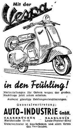 Motorräder im Saarland zur Zeit der OE-Kennzeichen