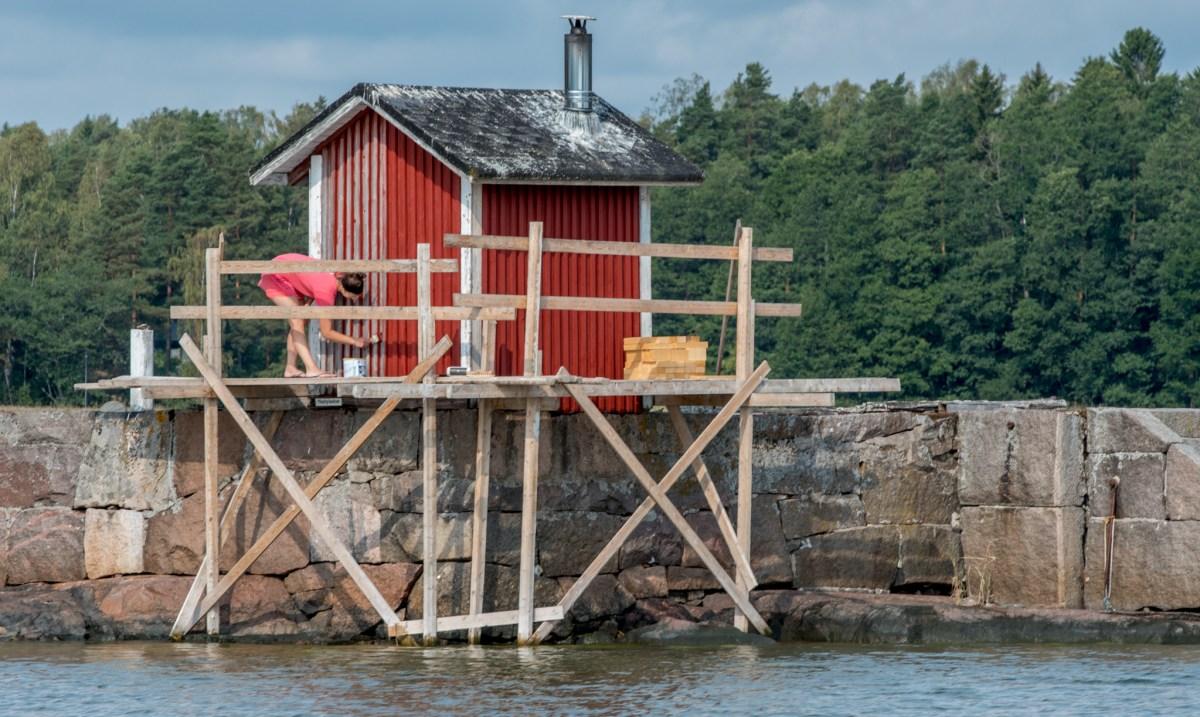 Saunan maalaaminen - Teknos Nordica Matt